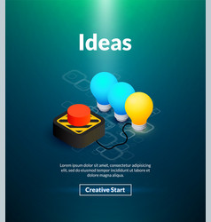 ideas poster of isometric color design vector image
