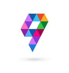 Letter Q mosaic logo icon design template elements vector image vector image