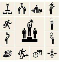 Set of business and career icons vector image vector image