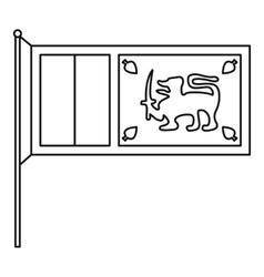 Sri Lanka flag icon outline style vector image vector image