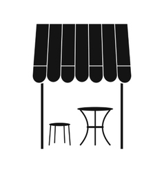 Street french cafe icon simple style vector