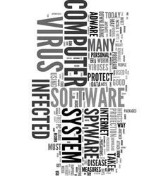 you got to protect your computer text word cloud vector image