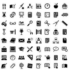 Big school icon set vector