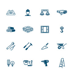 construction icons - micro series vector image