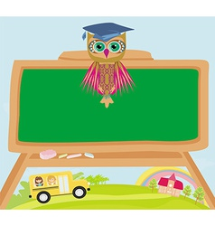 cute back to school with owl vector image