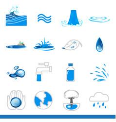 iicon set of water symbol vector image