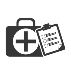 kit medical box vector image