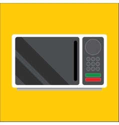 Modern microwave Front view vector image vector image