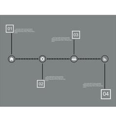 Modern timeline design template vector image vector image