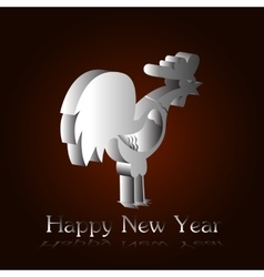 Silver rooster H vector image
