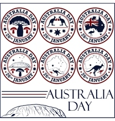 Australia day stamps vector image vector image