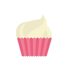 cup cake celebration love vector image