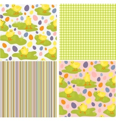 Cute collection of Easter patterns vector image