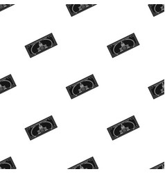 dollar bill icon in black style isolated on white vector image vector image