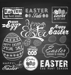 easter typographical background vector image vector image