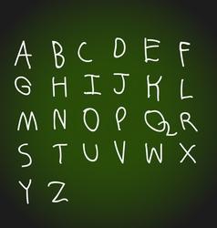 Hand drawing alphabet design vector image