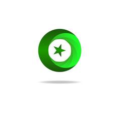 Islam symbol star and crescent muslim sign vector image