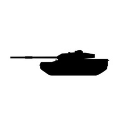 Tank the black color icon vector