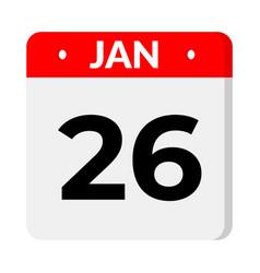 26 january calendar icon vector