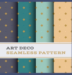 art deco seamless pattern 51 vector image