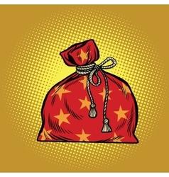 Bag of Santa Claus Christmas and New year vector