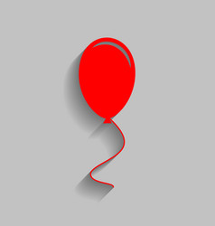 balloon sign red icon with vector image