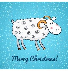 Beautiful cute sheep symbol of the new year vector image vector image