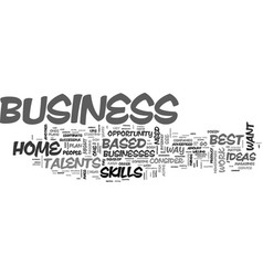 best successful home based business opportunities vector image