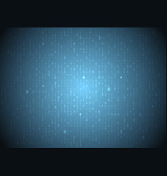 binary code blue background big data and vector image