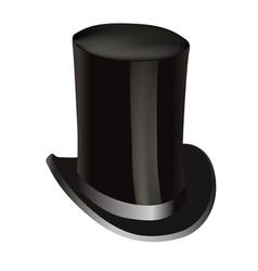 Black cylinder hat vector