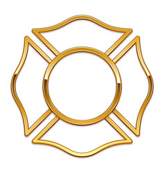 Blank fire department logo base gold trim only vector