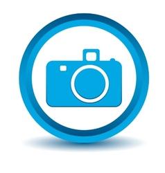 Blue camera icon vector