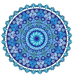 Blue oriental pattern and ornaments vector