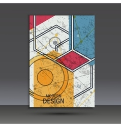 Brochure template with abstract geometric design vector image