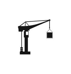 building construction crane icon crane icon vector image