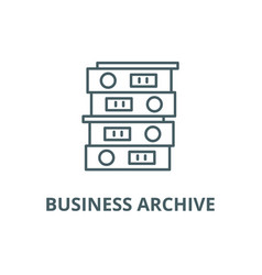 business archive line icon business vector image