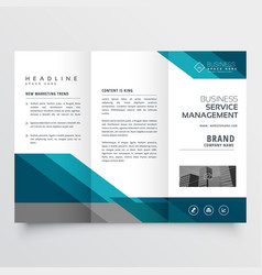 Business trifold brochure leaflet design in size vector