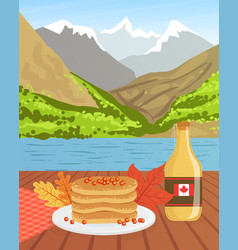 canada mountain landscape and national cultural vector image