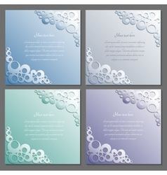 Card templates set Paper frame Rings pattern vector image