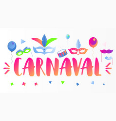 Carnaval banner vector