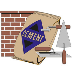 cement bag isolated on white background vector image