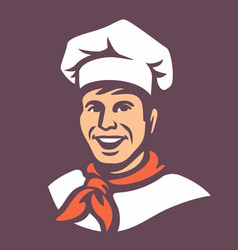 Chef with hat vector