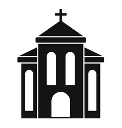 Church building icon simple style vector