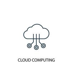 cloud computing concept line icon simple element vector image