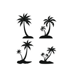 coconut tree icon design template isolated vector image