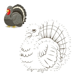 Connect dots game turkey vector