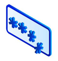 crack password icon isometric style vector image