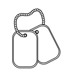 dog tag plate black and white vector image