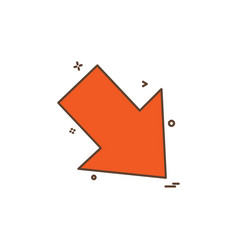 down arrow icon design vector image