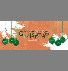 eco christmas card green recycle bauble ornament vector image